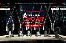 MC- nhà báo Lại Văn Sâm 'cầm trịch' show truyền hình mới về việc làm