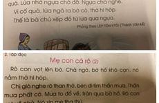 Sách giáo khoa Tiếng Việt lớp 1 đầy 'sạn': Hãy để xã hội kiểm định, lựa chọn sách giáo khoa!