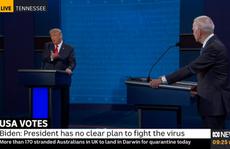 Tổng thống Trump 'làm điều chưa từng làm' trong tranh luận