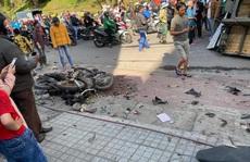 Xe tải chở bia trôi tự do gây tai nạn náo loạn phố Đà Lạt
