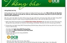"""Ngân hàng Phương Đông khẳng định không liên quan tới """"Tập đoàn tài chính OCB"""""""