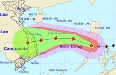 Bão Goni liên tục đổi hướng sau khi vào Biển Đông