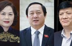 Phê chuẩn bổ nhiệm 2 Bộ trưởng Y tế và KH-CN, Thống đốc NHNN với tỉ lệ phiếu từ 92,09%-97,08%