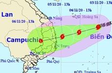 Bão số 10 mạnh lên giật cấp 11, miền Trung đối mặt với mưa lớn tới 350 mm