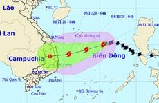 Bão số 10 giật cấp 11 hướng vào các tỉnh Quảng Ngãi đến Khánh Hòa