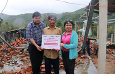 PNJ kịp thời hỗ trợ bà con Quảng Ngãi khắc phục hậu quả cơn bão số 9