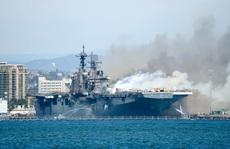 Hải quân Mỹ mất 30 triệu USD 'xuống xác' tàu chiến USS Bonhomme Richard
