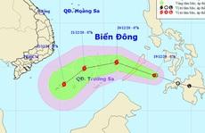 Áp thấp nhiệt đới vào Biển Đông, mạnh lên thành bão giật cấp 10-11