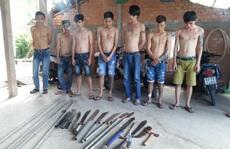 Phát hiện 'kho hung khí' trong tụ điểm game bắn cá ở Tiền Giang