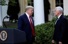 """Tổng thống Trump không hài lòng với """"phó tướng"""" Pence"""