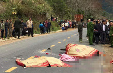 Va chạm xe khách trên đường đi viện về, vợ chồng và con gái tử vong thương tâm