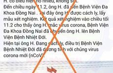 Đăng tin giả về Covid-19,  người  'đang ở bên Mỹ'  đã bị tìm thấy ở Đồng Nai