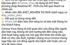 TP HCM: Thực hư quảng cáo xét nghiệm virus corona tại nhà?