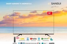 VTB hợp tác phát triển tivi tràn viền karaoke thông minh Sansui