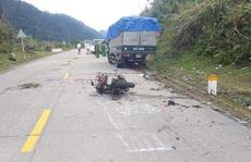 Xe máy tông xe tải, 2 du khách người Đức tử vong