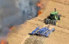 Hy hữu hơn 2ha lúa gần thu hoạch của dân bất ngờ bốc cháy