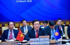 Phó Thủ tướng Phạm Bình Minh dự Hội nghị trực tuyến ASEAN-EU ứng phó Covid-19