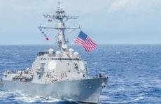 Tàu chiến Mỹ lại đi qua eo biển Đài Loan