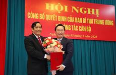 Thứ trưởng Bộ KH-ĐT làm Phó Bí thư Tỉnh ủy Nghệ An
