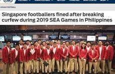 Cầu thủ U22 Singapore bị phạt nặng vì đánh bạc