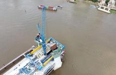 Nhìn từ trên cao, công trình cầu Thủ Thiêm 2 ở TP HCM hiện thế nào?