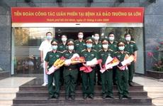 Đoàn y, bác sĩ Bệnh viện Quân y 175 tiếp sức cho Bệnh xá đảo Trường Sa