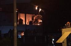 Cháy lớn ở công ty cơ khí trong KCX Tân Thuận