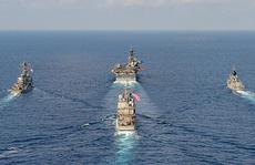 Cận cảnh các tàu chiến Mỹ thách thức Trung Quốc ở biển Đông