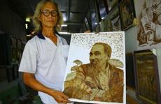 Nghệ nhân Đồng Tháp tiết lộ bí quyết sáng tác tranh Bác Hồ từ lá sen