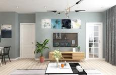 Ngắm căn hộ cho thuê mang màu sắc nhiệt đới