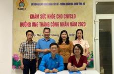 Hà Nội: Khám sức khỏe miễn phí cho gần 1.000 đoàn viên