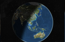 Ngoài khơi Ấn Độ Dương, một mảnh vỏ trái đất đang vỡ đôi