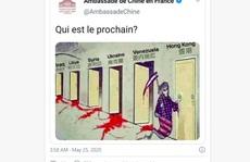 Đại sứ quán Trung Quốc tại Pháp gây tranh cãi với biếm họa chống Mỹ