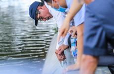 CLIP: Cảnh chuyên gia 'soi' chất lượng, thẩm mỹ việc tôn tạo bờ kè hồ Gươm