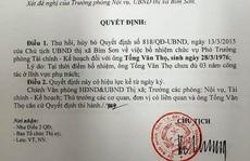 Hủy 2 quyết định bổ nhiệm 'thần tốc' một Trưởng phòng ở Thanh Hóa