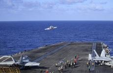 Cận cảnh 3 tàu sân bay Mỹ hoạt động ở cửa ngõ biển Đông