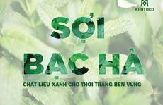 Thời trang KHATOCO ra mắt dòng sản phẩm mới chất liệu xanh – áo sơ mi sợi bạc hà