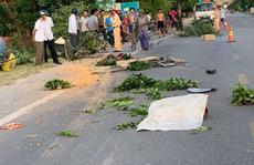 Xe tải chở đất tông 3 người phụ nữ đi xe đạp, 1 người chết, 2 người bị thương