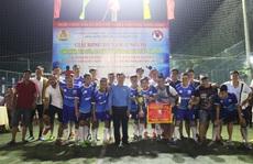 Đội bóng Công đoàn Ngành Xây dựng Quảng Nam đoạt cúp vô địch