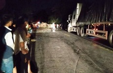 Nhảy khỏi xe container gặp nạn, tài xế va trúng đá tử vong