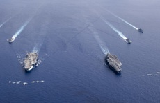 Mỹ tập trận rầm rộ ở biển Đông, gửi cảnh báo đến Trung Quốc
