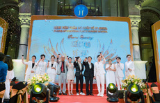 Vợ chồng Trấn Thành, Anh Đức, Trúc Nhân biểu diễn tại sự kiện khai trương Bệnh viện Thẩm mỹ JT Angel