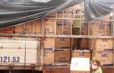 Bắt xe tải chở 390.000 khẩu trang y tế không rõ nguồn gốc từ TP HCM ra Bắc