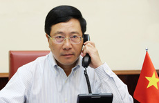 Phó Thủ tướng, Bộ trưởng Ngoại giao Phạm Bình Minh Điện đàm với Ngoại trưởng Mỹ