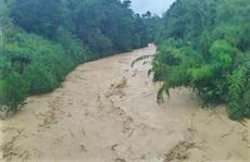Quảng Nam mưa to, nước sông đang lên và dự báo xuất hiện lũ