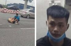 Trung úy CSGT bị nam thanh niên đi xe môtô phân khối lớn tông gãy chân