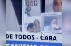 Chính khách Argentina hôn ngực bạn gái khi họp trực tuyến quốc hội