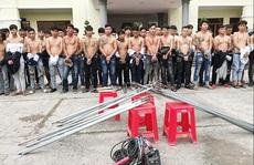 Bắt giữ 59 thanh niên mang hung khí 'dàn trận' ở Biên Hòa