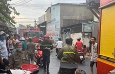 Cháy lớn thiêu rụi toàn bộ ôtô, xe máy trong kho phụ tùng