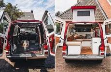 'Ngôi nhà ấm áp' được cải tạo từ chiếc xe Volkswagen T4 Transporter